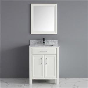 Spa Bathe Calumet 28-in Bathroom Vanity,CA28Wht-CWM