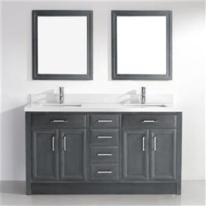 Spa Bathe Calumet 63-in Bathroom Vanity,CA63FG-SSC