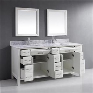 "Spa Bathe Calumet Double-Sink Bathroom Vanity - 75"" - White"