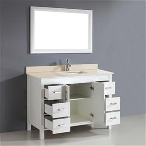 Spa Bathe Cora 48-in Bathroom Vanity,CO48Wht-GB