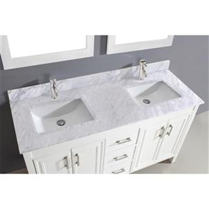 Spa Bathe Cora 60-in Bathroom Vanity,CO60Wht-CWM