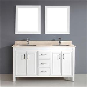 Spa Bathe Cora 60-in Bathroom Vanity,CO60Wht-GB