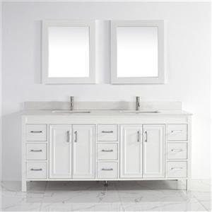 Spa Bathe Cora 75-in Bathroom Vanity,CO75Wht-SSC