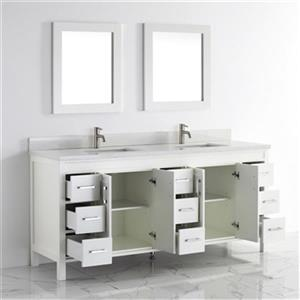 Spa Bathe Cora 75-in Bathroom Vanity,CO75Wht-SSCTH