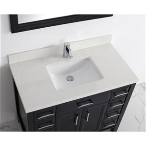 Spa Bathe Calumet 42-in Single Sink Vanity with Solid Surfac