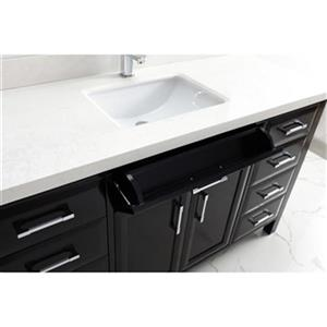 "Calumet Single Sink Vanity with Countertop - 60"" - Black"