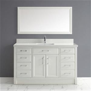 Spa Bathe Calumet 60-in Single Sink Vanity with Solid Surfac