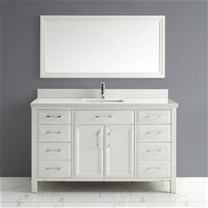 Calumet 60-in Single Sink Vanity with Solid Surface Top