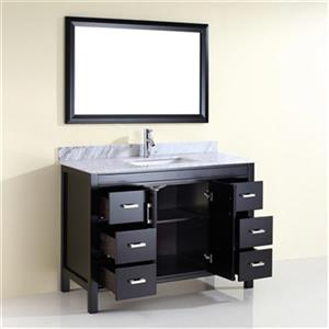 Spa Bathe Cora 48-in Single Sink Vanity with Marble Top,CO48