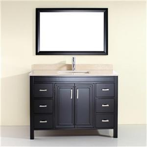 Cora 48-in Single Sink Vanity with Marble Top