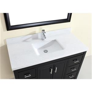 Spa Bathe Cora 48 Single Sink Vanity with Solid Surface Top,