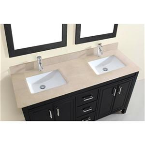 Spa Bathe Cora 60-in Double Sink Vanity with Marble Top,CO60