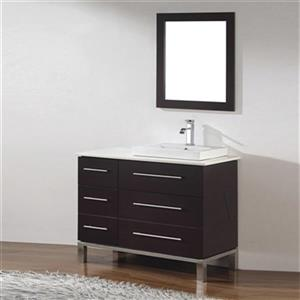 Spa Bathe Grada 42-in Single Sink Vanity with Quartz Top,GO4