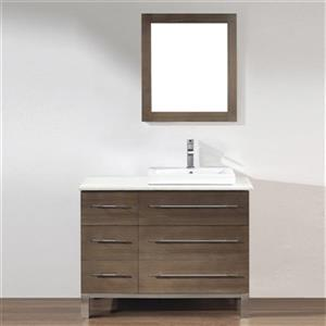 Grada 42-in Single Sink Vanity with Quartz Top