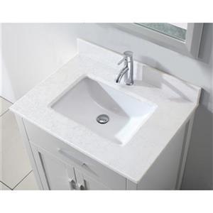 Spa Bathe Kenzie 30-in Single Sink Vanity,KZ30Wht-SSC