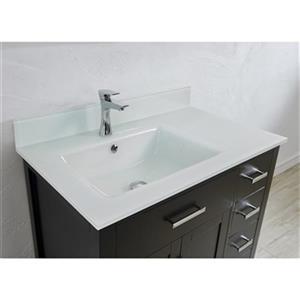 Spa Bathe Kenzie 36-in Single Sink Vanity with Glass Top,KZ3