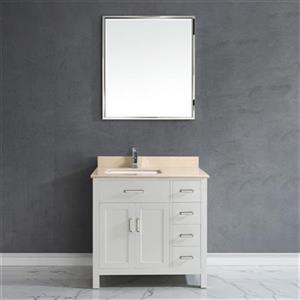 Spa Bathe Kenzie 36-in Single Sink Vanity,KZ36Wht-GBM