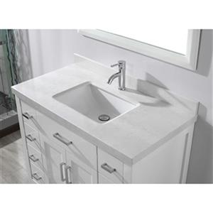 "Spa Bathe Kenzie Bathroom Vanity with Mirror - 42"" - White"