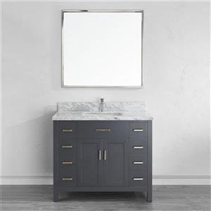 Spa Bathe Kenzie 42-in Single Sink Vanity-KZ42FG-CAR