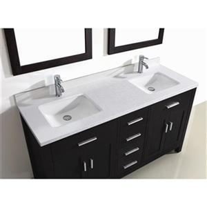 Spa Bathe Kenzie 63-in Double Sink Vanity,KZ63Esp-SSCTH