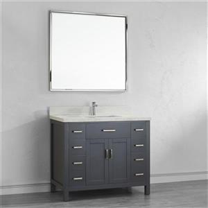 Spa Bathe Kenzie 42-in Single Sink Vanity with Solid Surface