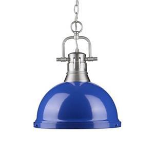 Golden Lighting 3602-L Duncan 1 Light Pendant,3602-L PW-BE