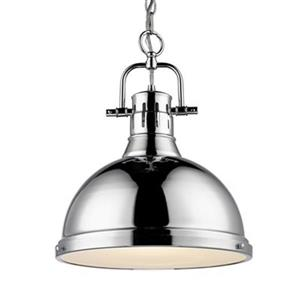 Golden Lighting 3602-L Duncan 1 Light Pendant,3602-L CH-CH