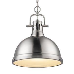 Golden Lighting 3602-L Duncan 1 Light Pendant,3602-L PW-PW