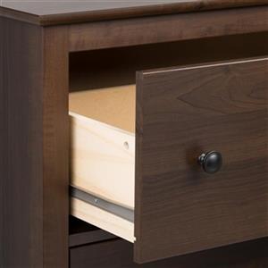 Prepac Furniture Yaletown Tall 1-Drawer Nightstand,EDNH-1201