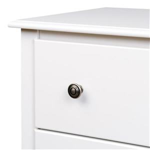 Prepac Furniture Monterey Tall 3-Drawer Nightstand,WDC-2403