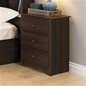 Prepac Furniture Fremont Tall 3-Drawer Nightstand,EDC-2403