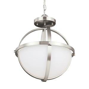 Sea Gull Lighting Alturas 2-Light LED Semi-Flush Pendant