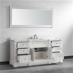 Spa Bathe Avella 72-in Bathroom Vanity,AV72Wht-SSC