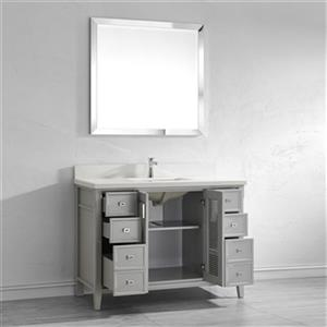 Spa Bathe Shutter 48-in Bathroom Vanity,SH48OG-WQ