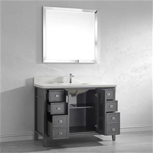 Spa Bathe Shutter 48-in Bathroom Vanity,SH48FG-WQ