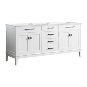 """Avanity Madison Double Vanity Cabinet - 72"""" - White"""