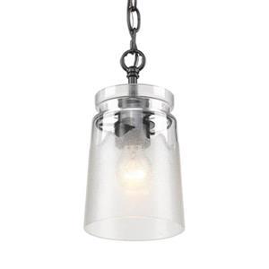 Golden Lighting 1405-M1L BLK-CAG Travers Mini Pendant,1405-M