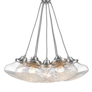 Golden Lighting 3417-7P PW-CC Asha 7-Light Pendant,3417-7P P