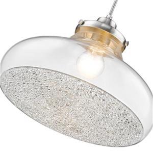 Golden Lighting 3417-L PW-CC Asha 1-Light Large Pendant Ligh