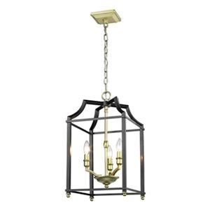 Golden Lighting Leighton 3-Light Foyer Pendant,8401-3P SB-BL