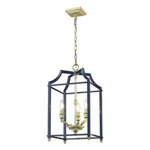 Golden Lighting Leighton 3-Light Foyer Pendant,8401-3P SB-NV