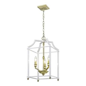 Golden Lighting Leighton 3-Light Foyer Pendant,8401-3P SB-WH