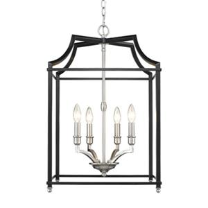 Golden Lighting 8401-4P Leighton 4-Light Pendant,8401-4P PW-