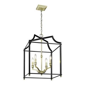 Golden Lighting 8401-4P Leighton 4-Light Pendant,8401-4P SB-