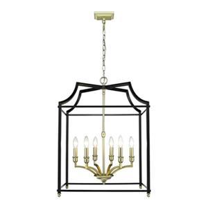 Golden Lighting 8401-6P Leighton 6-Light Pendant,8401-6P SB-
