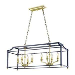 Golden Lighting 8401-LP Leighton 8-Light Kitchen Island Pend