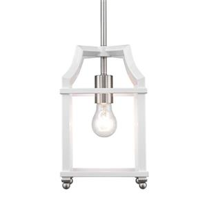 Golden Lighting 8401-M1L Leighton Mini Pendant,8401-M1L PW-W