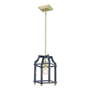 Golden Lighting 8401-M1L Leighton Mini Pendant,8401-M1L SB-N