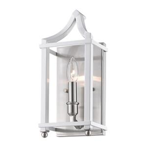 Golden Lighting 8401-WSC Leighton Wall Sconce,8401-WSC PW-WH