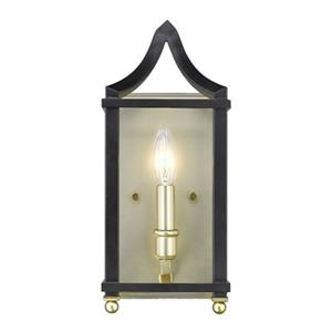 Golden Lighting 8401-WSC Leighton Wall Sconce,8401-WSC SB-BL